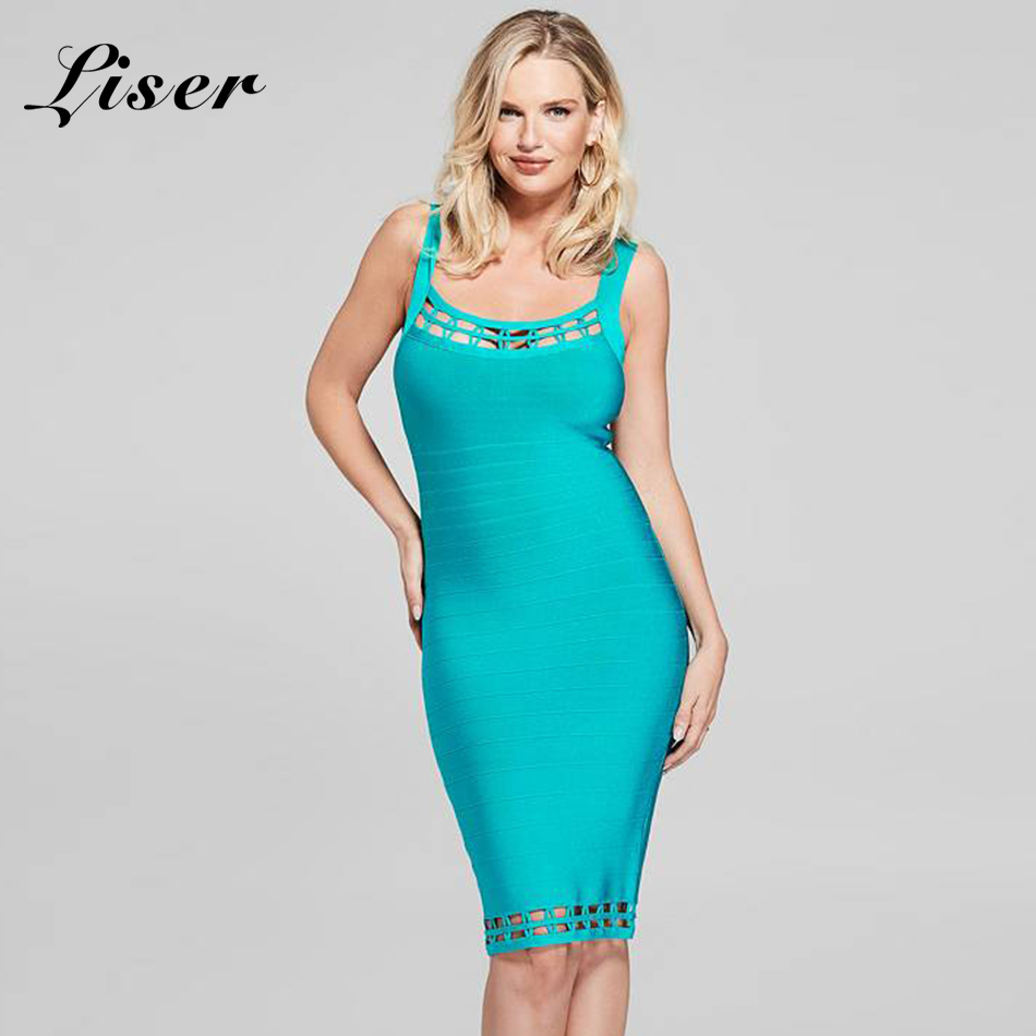 Liser 2018 New Summer Women Dress Strapless Striped Bandage Dress Sexy Bodycon Elegant Celebrity Party Blue Red Dresses Vestidos