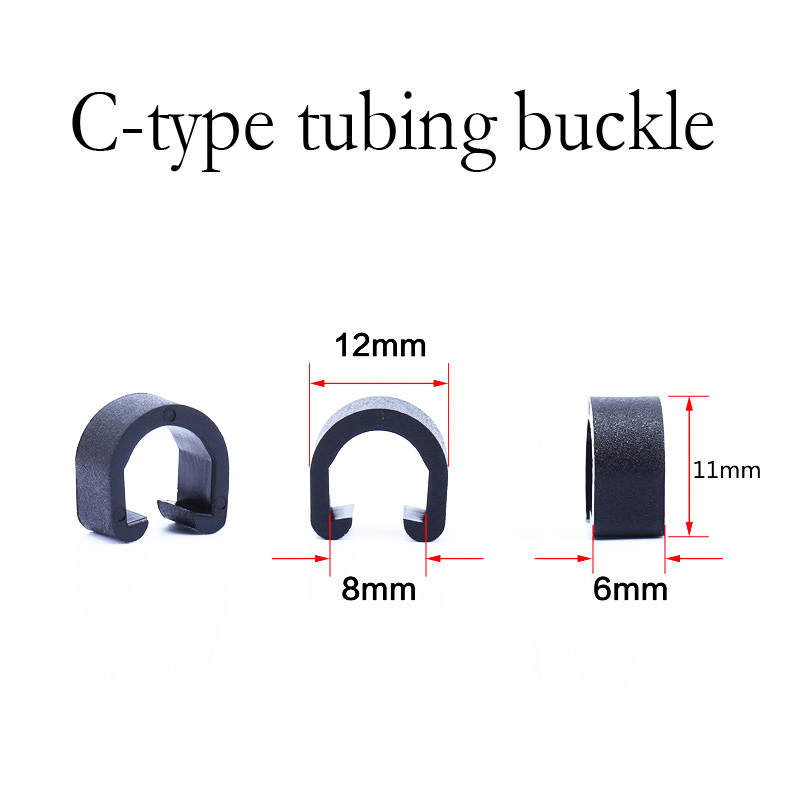 20pcs Bicycle Cycle plastic C-Clips Buckle Hose Brake Gear Cable Housing  B