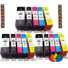 купить 15 Compatible INK CARTRIDGE PGI-525 CLI-526 Canon Pixma MG5250 MG5350 IP4850 IP4950 MG6220 дешево