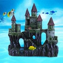 22*8*25 см искусственные европейские скалы аквариум пейзаж замок Ландшафтный аквариум пещера украшение Прямая поставка