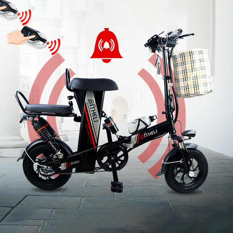 Qi Li Electric Bicycle Small Folding Adult Men And Women Travel Mini Battery Car Lithium Battry Driving Scooter