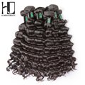 Onda natural virginal brasileña del pelo 3 paquetes de venta superior 6a sin procesar del pelo humano bundles envío libre hj weave beauty