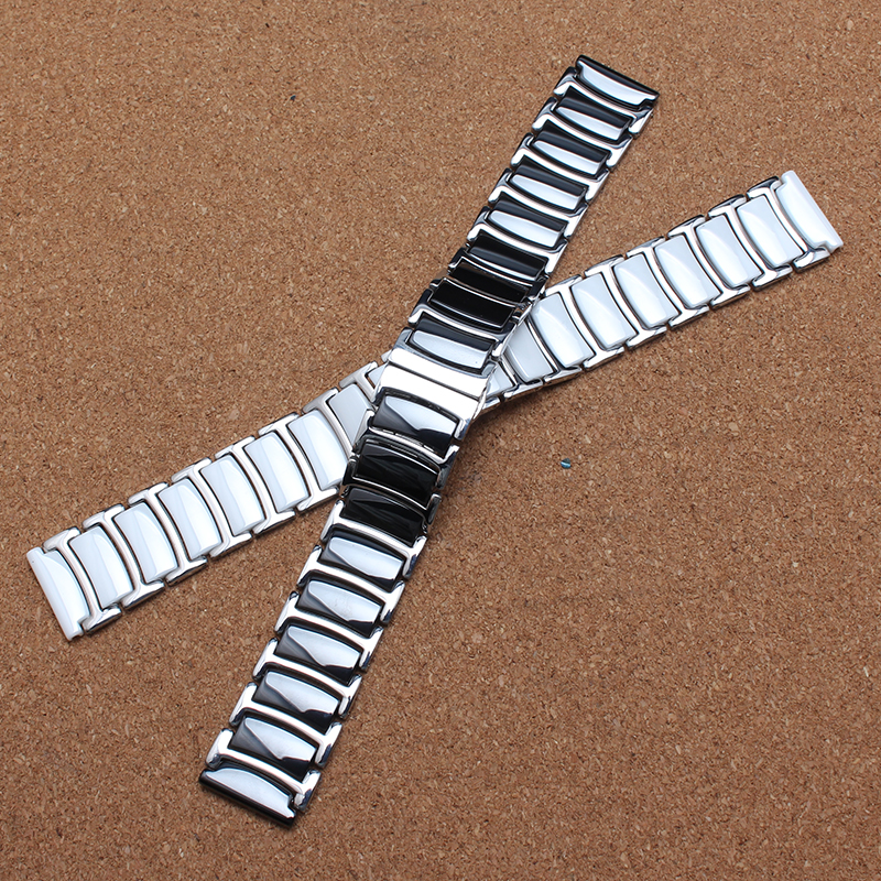 20mm 22mm New Watchbands ceramic AND stainless steel watch bracelet for BRAND Wristwatch saat watches men white watchband strap 22mm new watchbands high quality ceramic watchband black diamond watch fit ar1406 man watches bracelet watch strap watchband