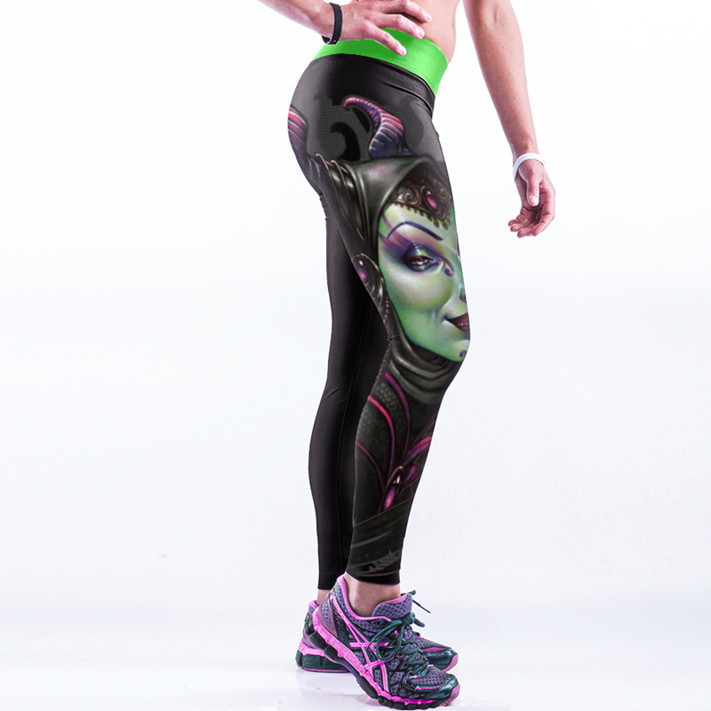 Womens Autumn Compression Pants Gyms Clothes Leggings Fitness Trousers Female Elastic Middle Waist Sexy Push Up Sporting Wear