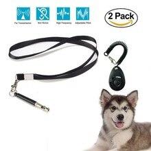 Свисток для собак комбинация для тренировки кликер останавливает вой шаг ультразвук для собак Расширенный Регулируемый свисток для обучения домашних животных от поставщиков