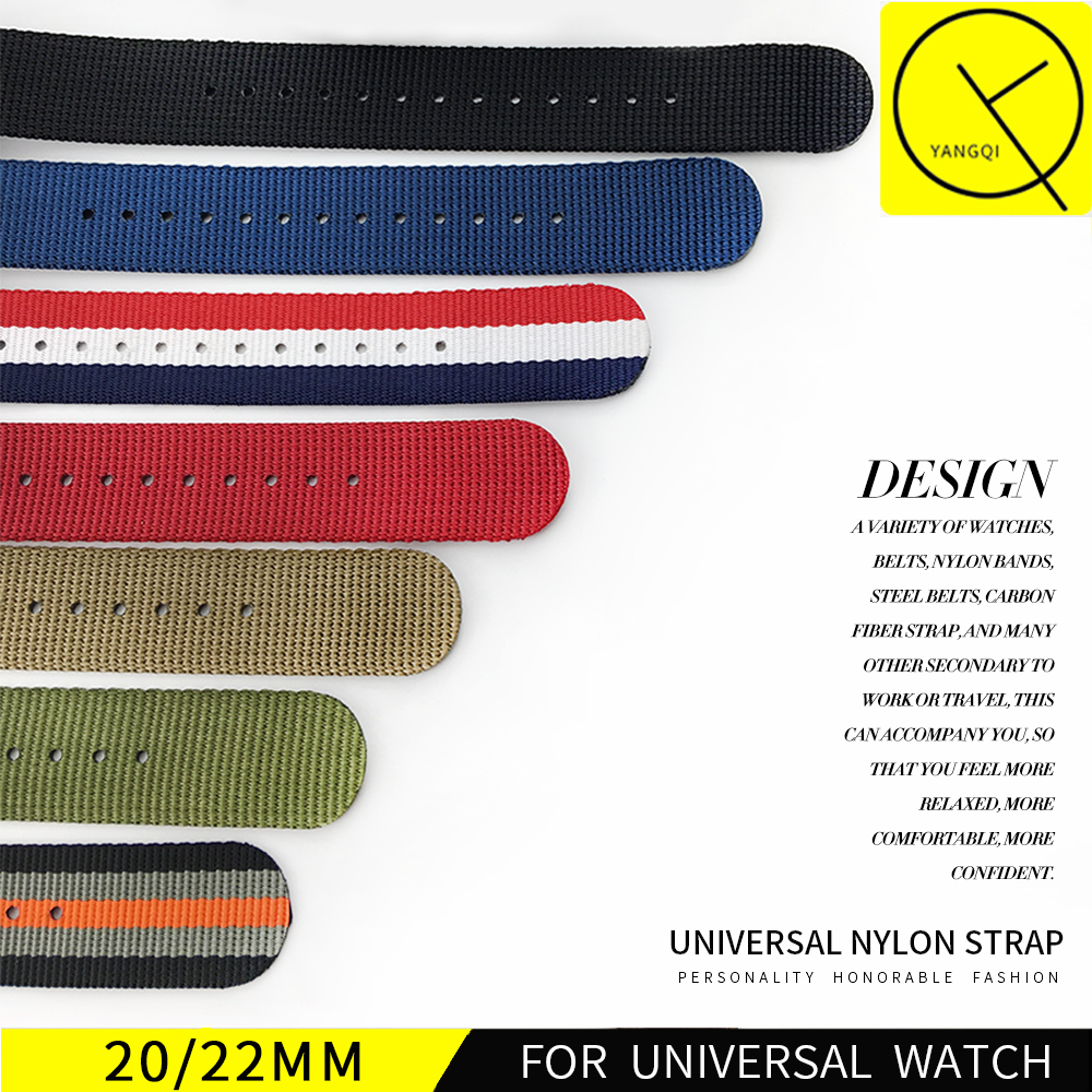 Watchband Sport Watchband Mens Nylon Strap Bracelet 20mm 22mm for Rolex Submariner for Omega Man for Hamilton Watchband+Tools