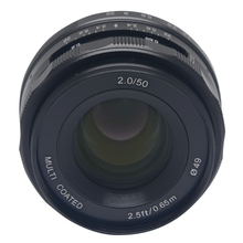 Venidice Meike 50mm f2.0 large Aperture Manual Multi Coated Focus lens APS-C for Fujifilm Mirrorless cameras