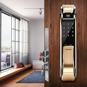 Image 5 - SAMSUNG Fingerprint Digital Door Locks Push Pull Keyless Fingerprint  SHS P718 ENGLISH Version Big Mortise AML320