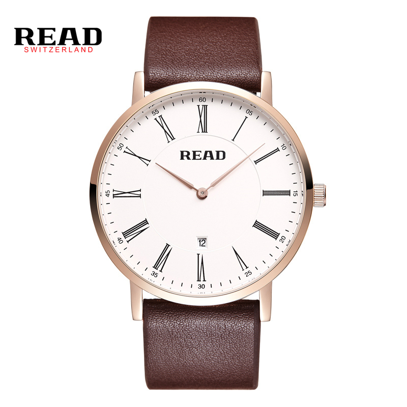 2017 New READ Brand Watch Fashion Quartz Watches Men s Luxury Casual Leather Business Simple Design