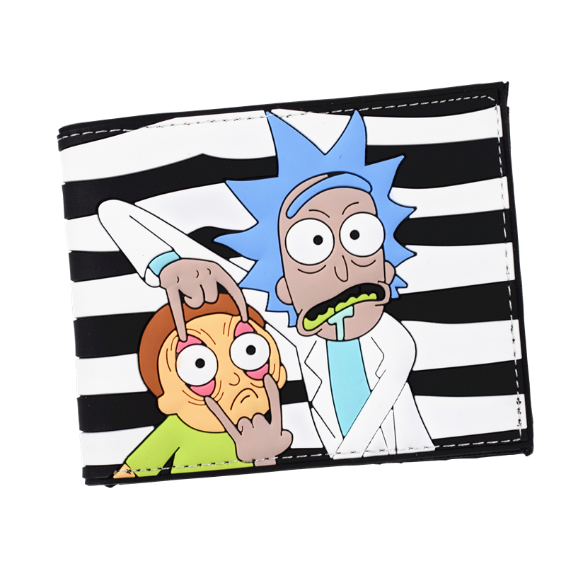 New Arrival PVC Short Wallet Anime Rick and Morty / Harry Potter / Captain American 3D Touch Men's Wallets the harry potter short wallets jack skellington man purse move wallet doctor who rick and morty cartoon kids cion purse