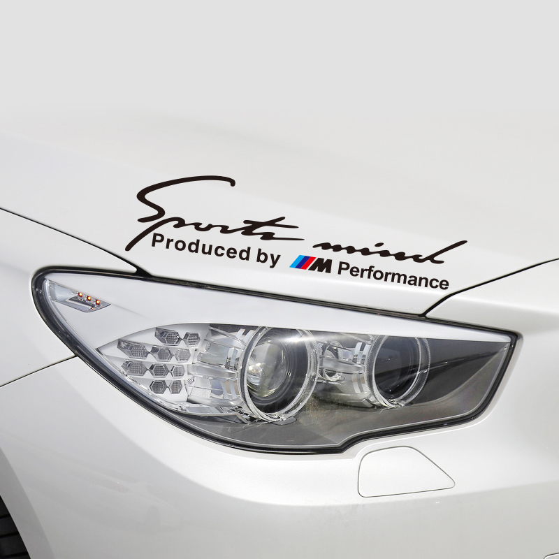 Sports Mind Sticker Sports Minded Decal Cover Logo Decoration Silver BMW M Power