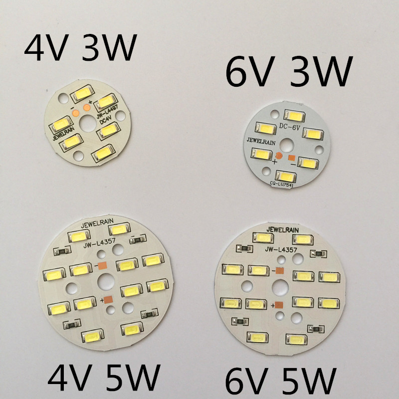 5pcs Small round light board <font><b>4V</b></font> <font><b>led</b></font> <font><b>strips</b></font> light plate 3W32mm 5W 50mm circular lamp board <font><b>led</b></font> small round light board 3W 5V <font><b>LED</b></font> image