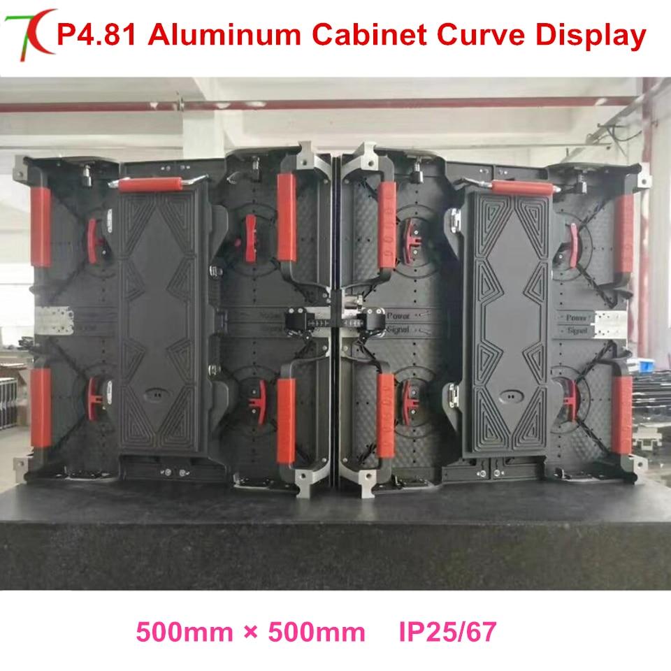 Courbe écran LED P4.81 500*500mm étanche en aluminium moulé sous pression affichage de coffret de location