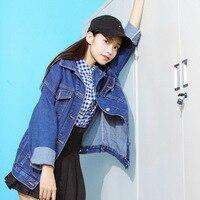 9d3ac05ea2 2018 Women Jacket Female Loose Long Section Harajuku Personality Pockets  Blue Wind Wild Denim Jacket Lady. US $58.00. 2018 Mulheres jaqueta ...