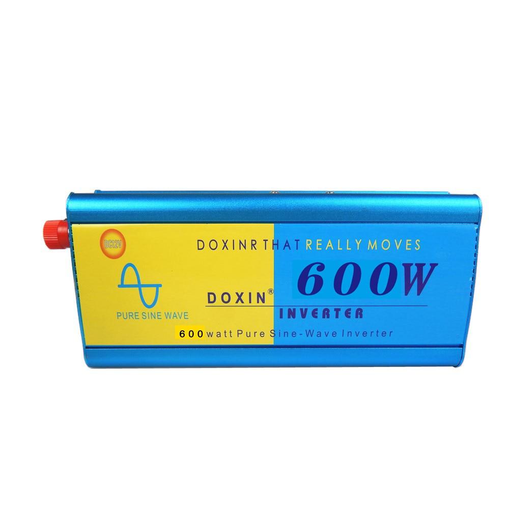 цена на Voltage converter 12V to 220V 24V to 220V sine wave high power 48V 60V to 220V 600W car solar pure wave inverter