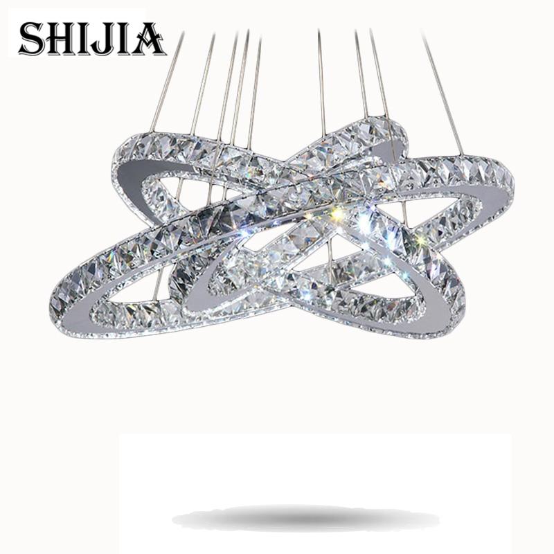 Hot sale Diamond Ring LED Crystal Chandelier Light Modern Chandelier Circles 100% Guarantee +Free shipping hot sale diamond ring led crystal chandelier light modern pendant lamp 100