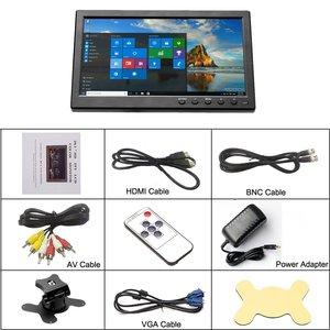 "Image 5 - Podofo 10.1 ""lcd hd 모니터 미니 tv 및 컴퓨터 디스플레이 컬러 스크린 2 채널 비디오 입력 보안 모니터 (스피커 포함) vga hdmi"