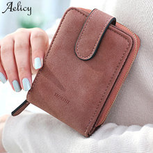 Aelicy Fashion Small Female Purse short purse PU Leather Famous Brand Wallet Women High Quality 2019 New Design Mini Wallet(China)