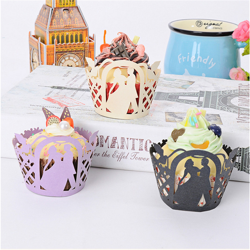 50pc Cupcake Wrappers Printable Dancing Couples Muffin Party