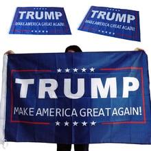 1 pçs 150x90cm donald trump bandeira fazer américa grande novamente donald para presidente eua