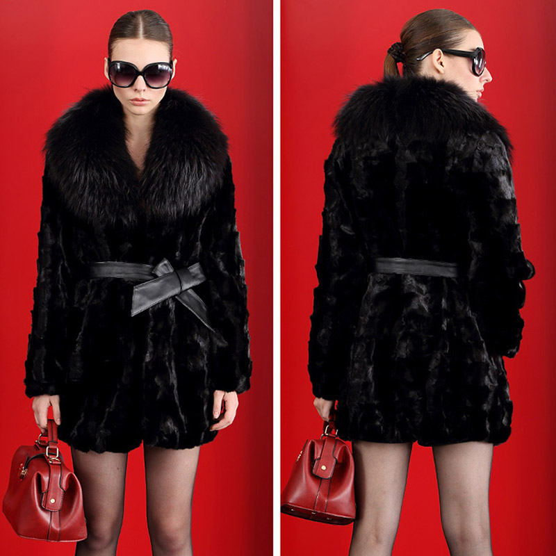 Imitation fur coat the fox long hair cut hair Faux Fur Coat Winter OuterWear Plus Hot Size S-XXL 2017 New Fashion show thin