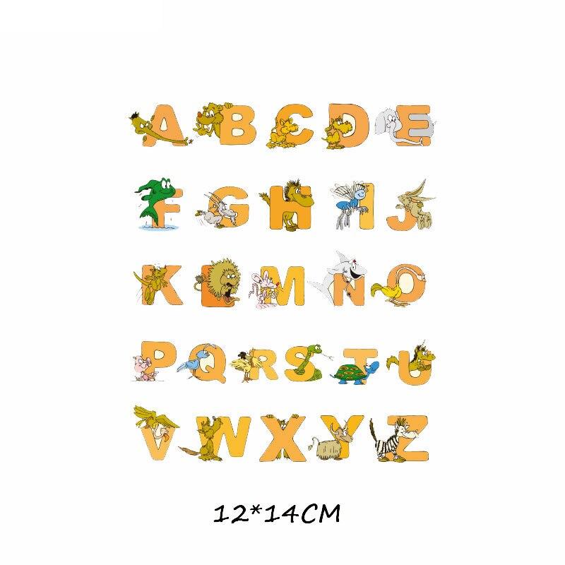Набор патчей с изображением животных из мультфильмов, милые патчи с изображением единорога, кошки, совы, собаки, цветов для детей, одежда для девочек, футболка, сделай сам, термопресс - Цвет: 502