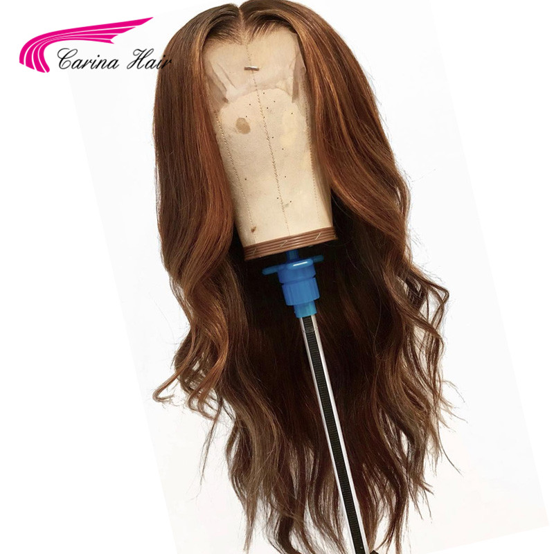 Carina 130% Lace Front Hair Wigs With Baby Hair Pre Plucked Hairline Malaysian Loose Deep Wave Remy Hair Glueless Wigs For Sale