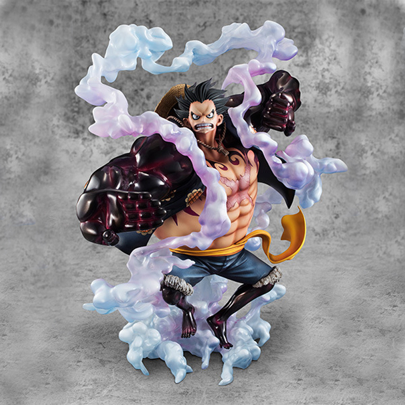 28cm Japanese Anime Super Cool Anime One Piece Gear Fourth Luffy PVC Action Figure Model Doll Toys Kids Gifts one piece figura luffy gear 2 pop one piece action figure japanese anime figure pvc figurine bonecos do one piece toys juguetes