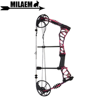 1Set 40 60lbs Archery Compound Bow Red Camo Adjustable Arrows Hunting Shooting Target Accessory
