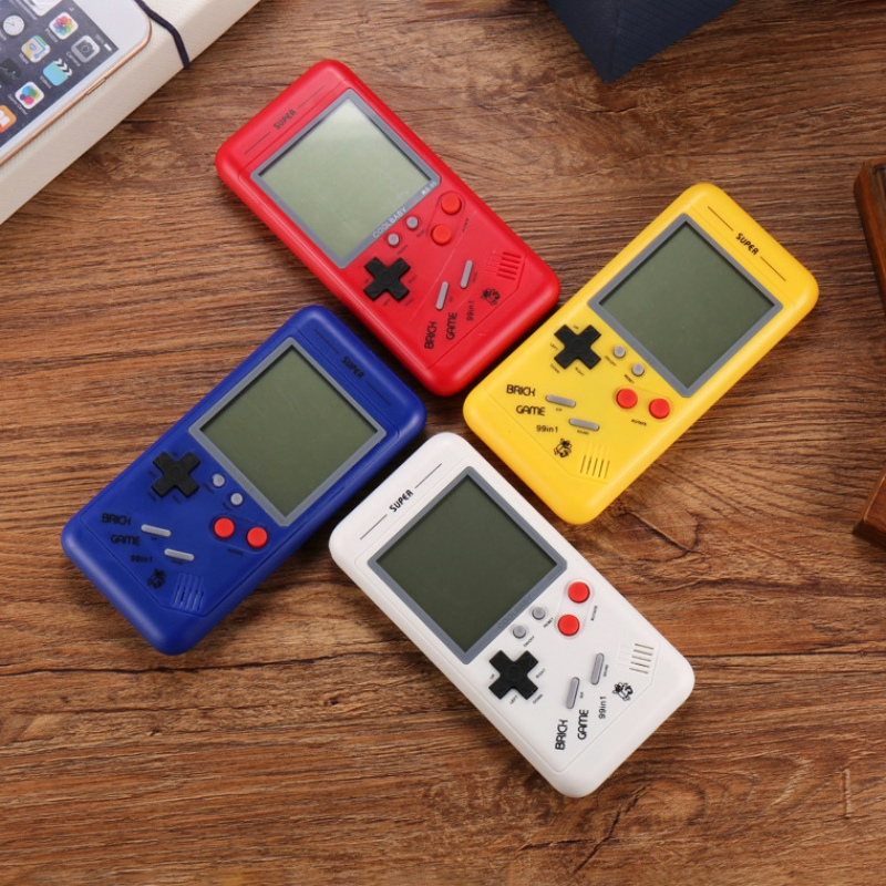 Gift for Kids Classic Tetris game For Students Classic Retro Puzzle Small Handheld Game Console Built-in Variety of Games