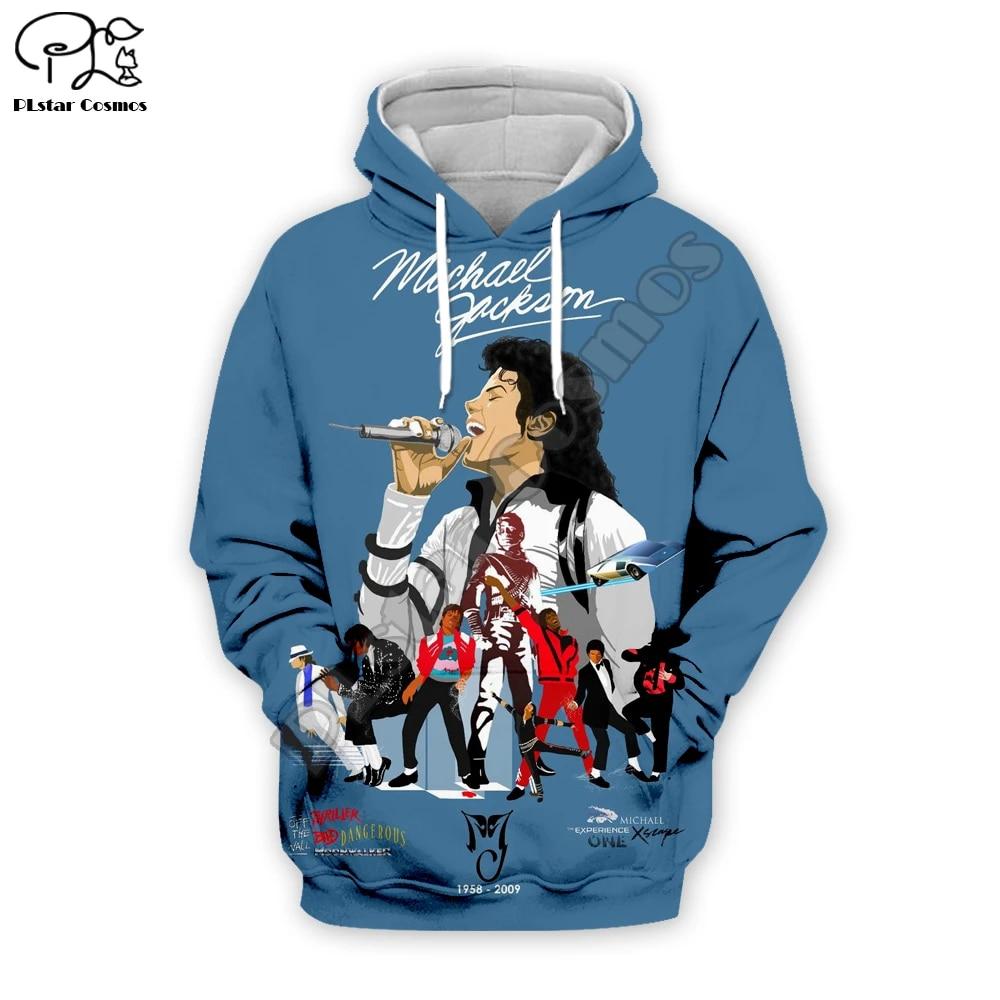 3D Print Michael Jackson Mens Hoodie Sweater Sweatshirt  Jacket Pullover Tops