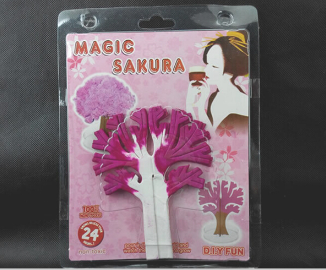 2019 135mm H Japan Pink Big Magic Grow Paper Japanese Sakura Tree Magically Growing Trees Kit Desktop Cherry Blossom Kids Toys in Gags Practical Jokes from Toys Hobbies
