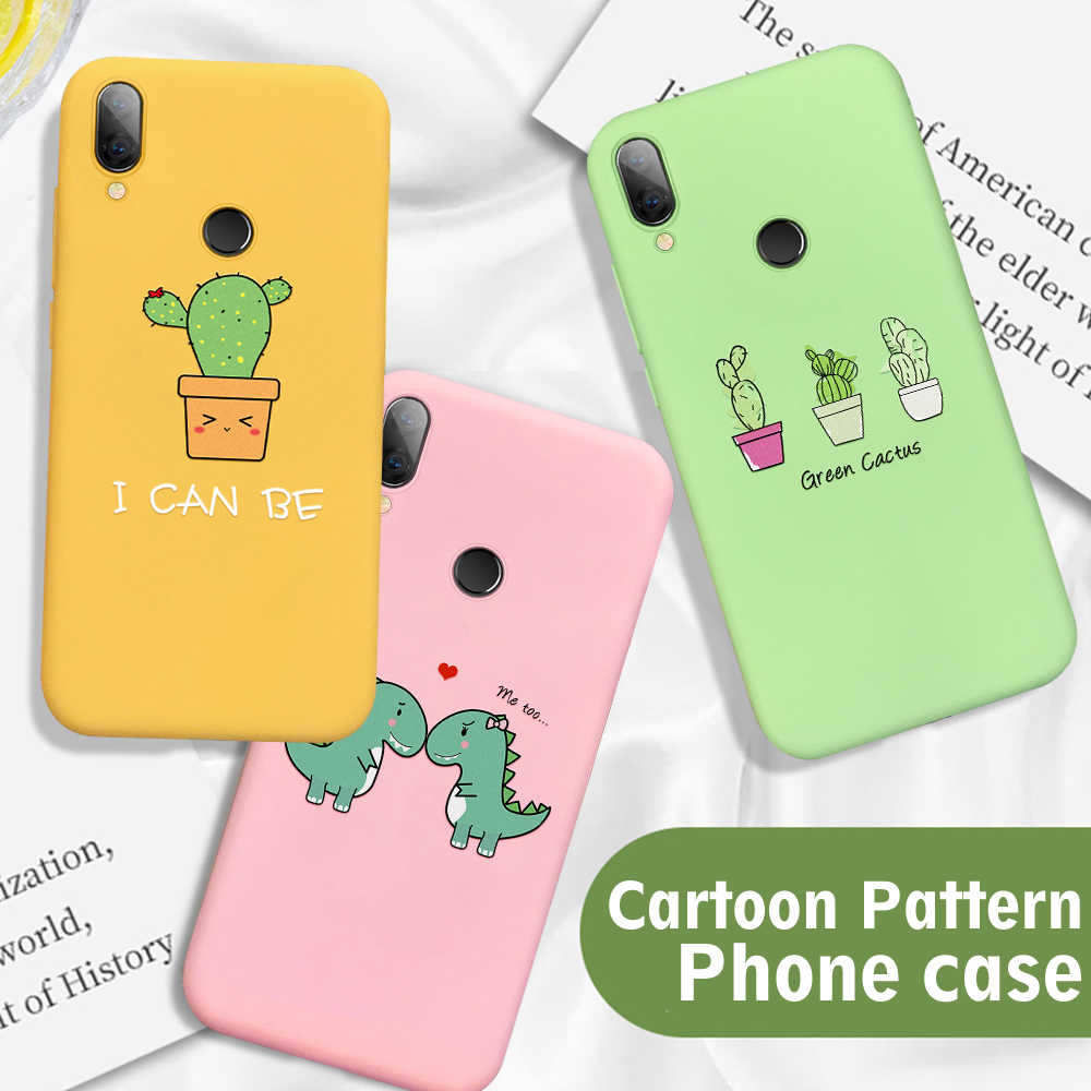 Cute Phone Case For Xiaomi Redmi Note 7 6 5 Pro Mi9 SE Mi8 Lite Mi 9T Pro A2 6X Soft TPU Cover For Redmi 7 7A 6A K20 Pro Cases