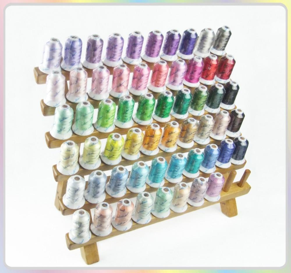 Simthread Brand New # 40 Rayon Brodery Thread 58 diverse färger, 500m vardera lämpliga för någon brodermaskin