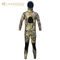 Layatone гидрокостюм для мужчин 3 мм неопрен Подводная охота подводное плавание каноэ костюм TwoPiece купальник
