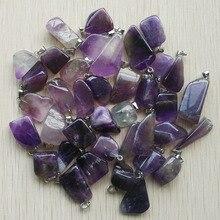 Colgantes irregulares de piedra Natural para la fabricación de joyas, 50 unidades/lote, venta al por mayor, novedad de joyería 2018