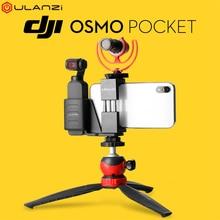 ULANZI OP-1 держатель телефона для DJI Осмо карман интимные аксессуары Gimbal камера смартфон Штатив Комплект адаптер чехол клетка микрофон