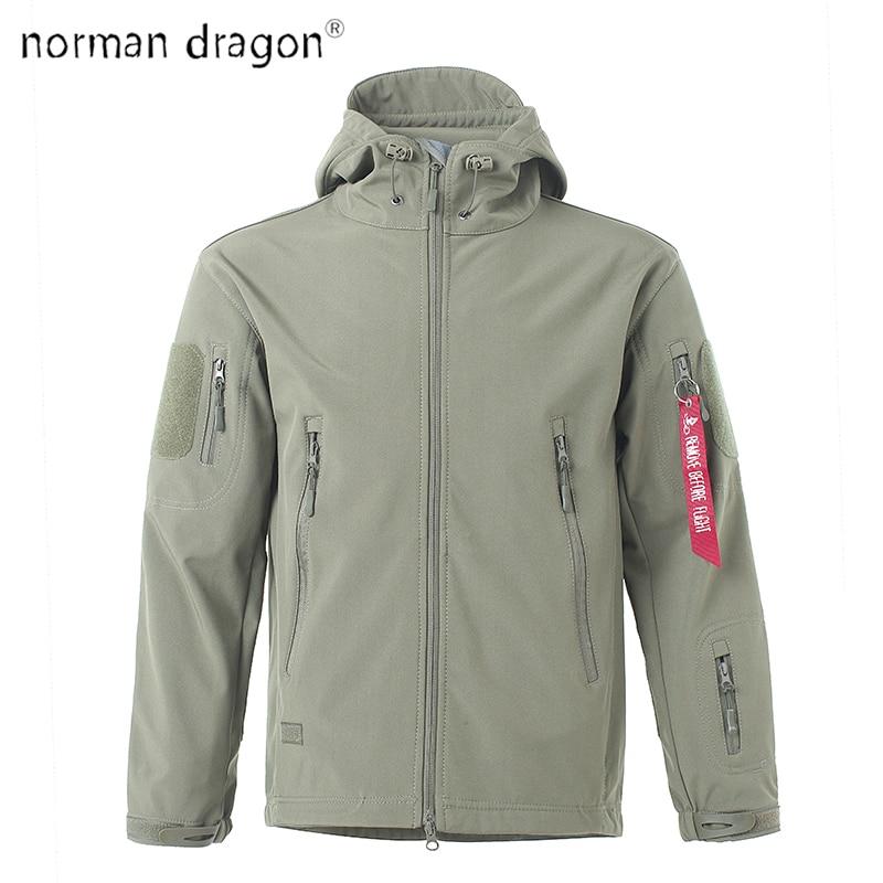 2018 Dropshipping Lurker Shark Skin Softshell V5 Military Tactical Jacket Men Waterproof Coat Hooded Army Windbreaker Clothing