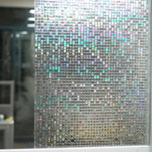 Mosaic Square Window Film Privacy Static Non-Adhesive Heat Insulation Anti UV Glass Sticker Office Bathroom Decorative