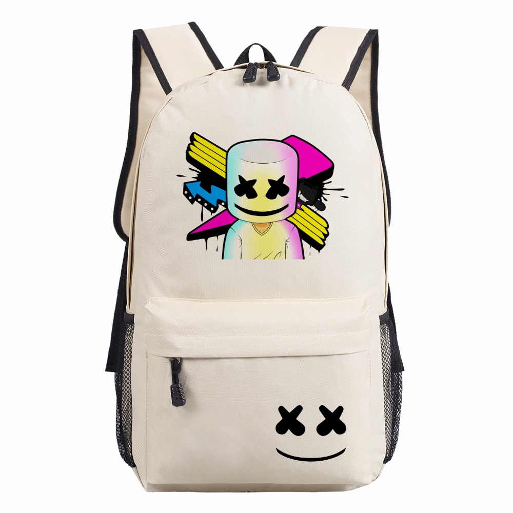 WISHOT Marshmello Backpack School Bags Bookbag Children men women Shoulder Bag  Students Backpack Travel Bag for 7ec6b83b22ea4