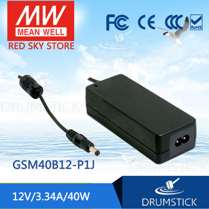 Selling Hot MEAN WELL GSM40B12-P1J 12V 3.34A meanwell GSM40B 12V 40W AC-DC High Reliability Medical Adaptor 12 12 mean well gst60a12 p1j 12v 5a meanwell gst60a 12v 60w ac dc high reliability industrial adaptor