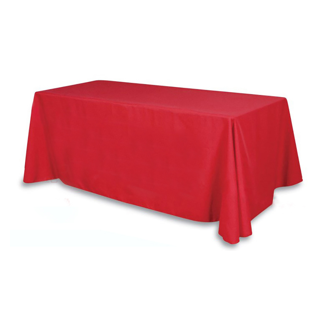 Rectangular Satin Tablecloth Table Cover Skirt for Wedding Party Restaurant Banquet Decorations 10pcs/ Pack  90x132 inch flat panel display