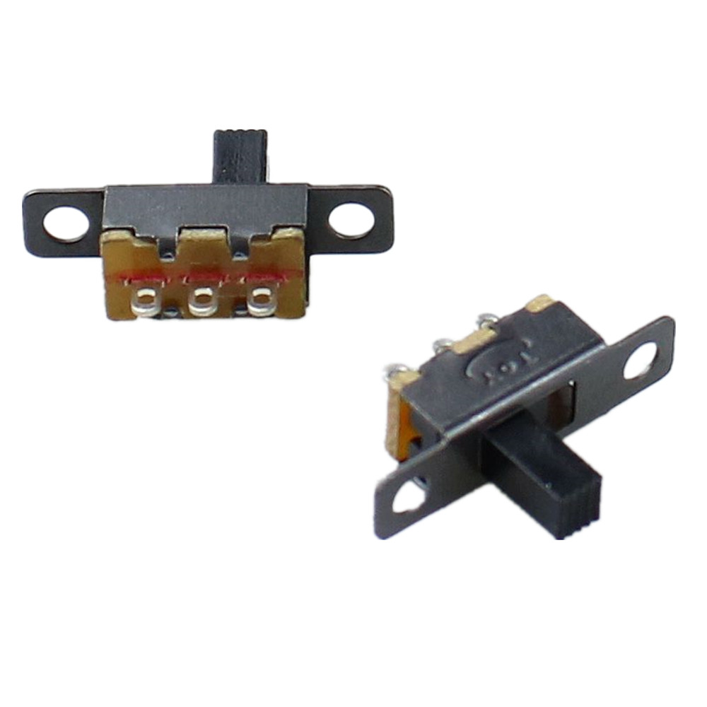 10pcs/lot 3 Pin 2 Position  Black Mini Size SPDT Slide Switches On-Off PCB DIY Material Electrical Tools Solder Lug  SS12F15G