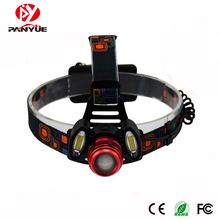 PANYUE 2000LM High Power led headlamp XM-L T6+2*COB Super Bright Waterproof USB Rechargeable Headlight Head lamp 18650 Battery panyue super bright 50w 20000lm 7 xml t6 2 r2 led headlamp usb rechargeable head lamp led headlight with sos whistle