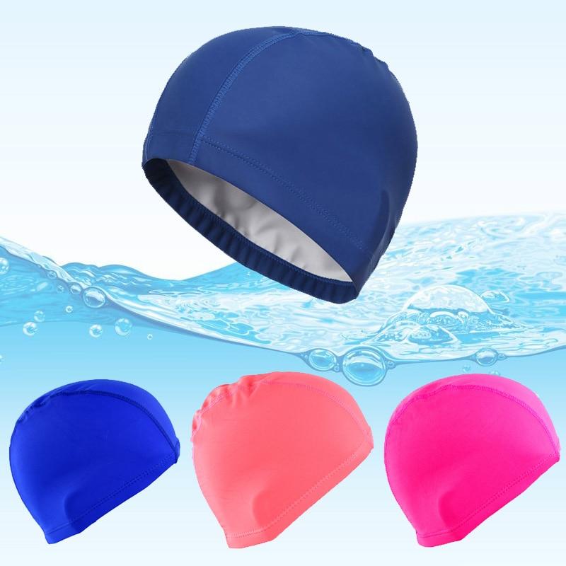 Elastic Fabric Swiming Cap Protect Ears Head Long Hair Sports Swim Pool Bath Hat Cover Free Size for Men Women Adults women night sleep hat long hair care chemo cap satin bonnet cap head wrap