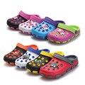 Горячая! детская обувь 2016 новых прибытия летние дети скользит тапочки, мальчик и девочки отверстие сандалии бесплатная доставка