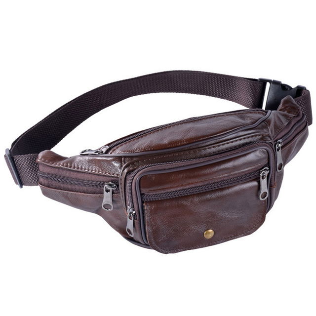 3e69d88f651b 2018 Fashion Luxury leather Waist Bag Bananka Travel Fanny Pack Men Walking  Mountaineering chest Purse belly