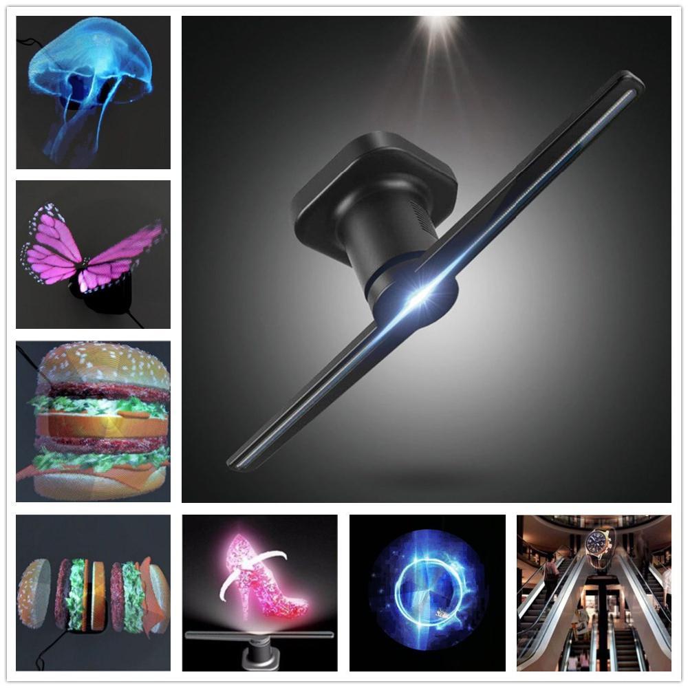 LED projecteur hologramme universel lecteur hologramme Portable ventilateur d'affichage holographique 3D projecteur holographique Unique