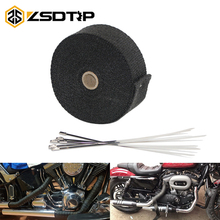 ZSDTRP Motorcycle Incombustible Turbo Manifold Heat Exhaust Wrap Tape Thermal Stainless Tiles 1.5mm*50mm*5m/10m/15m