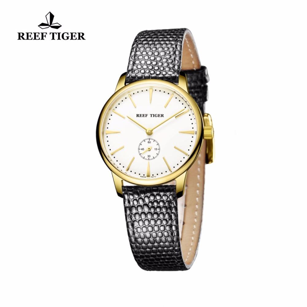 Reef Tiger / RT դեղին ոսկուց ծայրահեղ բարակ - Տղամարդկանց ժամացույցներ - Լուսանկար 5